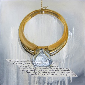 "Diamond Ring,16x16"" Giclee Print on Watercolor Paper"